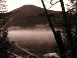 Morning Mist on Lake Colden, Mount Colden in the background, Adirondacks, NY