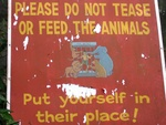 Sign at the Zoo